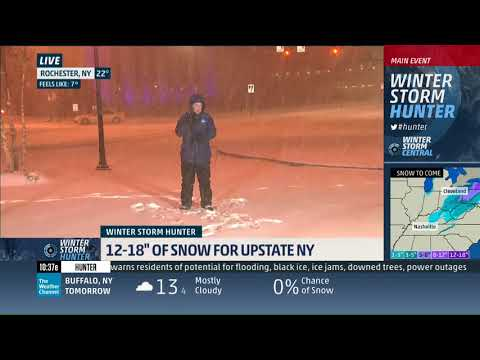 Mike Seidel The Weather Channel 20,000th Live Shot Rochester, NY 1-12-2018