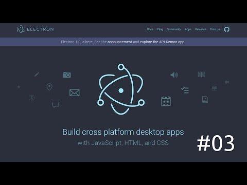 Electron #03 - Implementando jQuery e botões de ação
