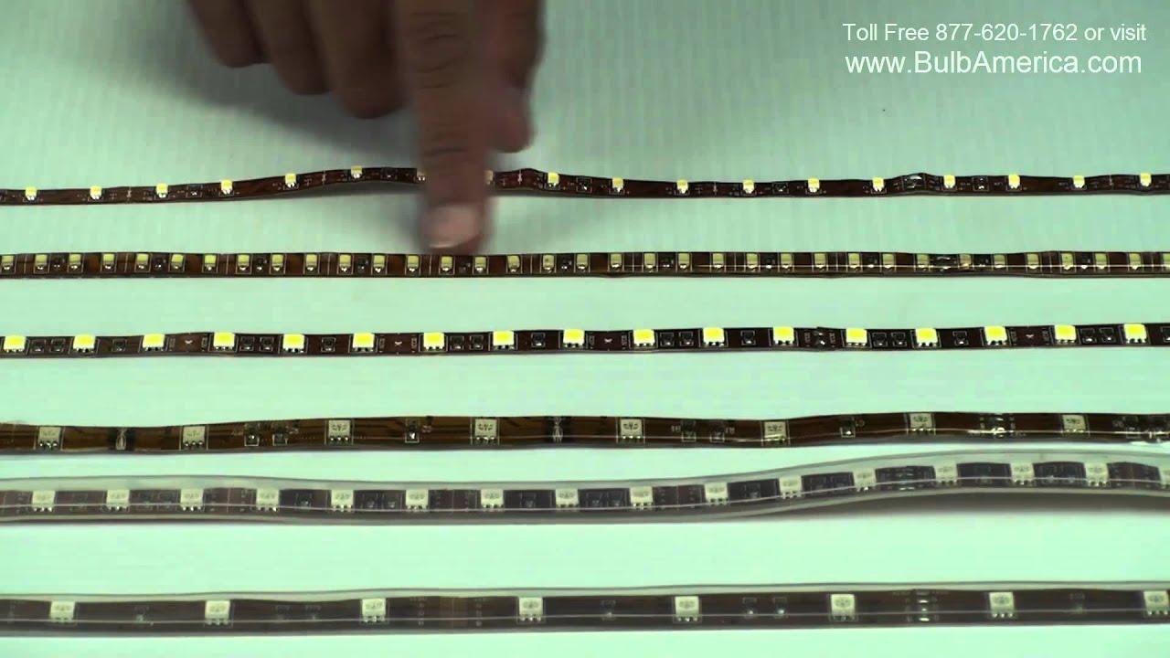 led strip differences epoxy vs silicon 5050 smd vs 3528 smd
