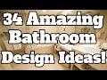 34 Amazing Bathroom Design Ideas! Bathroom Remodel Plans, Ideas, & Examples