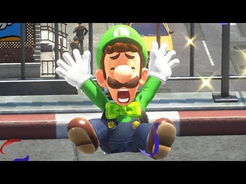 Super Mario Odyssey - Luigi's Reaction to All Mario Outfits
