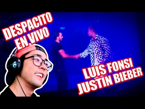 Thumbnail: Justin Bieber, Luis Fonsi - Despacito (EN VIVO) REACCION | kenroVlogs