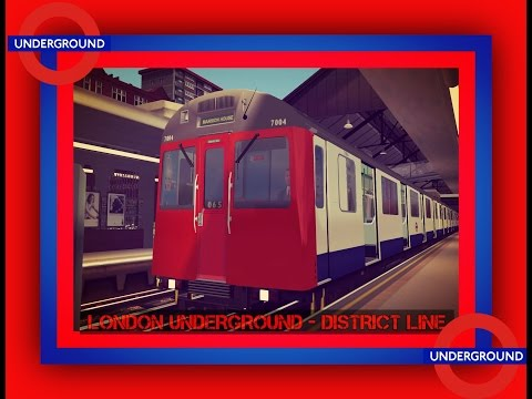 Train Simulator 2017/ London Underground - Dristrict Line Bêta  / Game Play