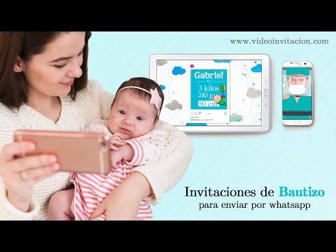 Invitación de Bautizo para Whatsapp Personalizada niño
