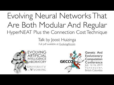 Talk summarizing Evolving Neural Networks That Are Both Modular and Regular