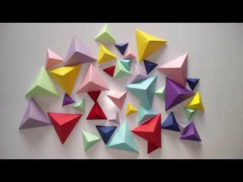 3D WALL DECOR   Most Amazing 3D Wall Decor Ideas   Origami Art   Paper craft   DIY Design 5