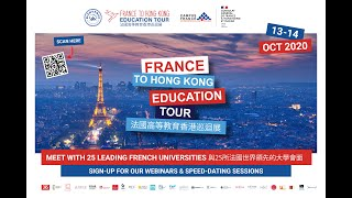 France To Hong Kong Education Tour Webinars on 13 &14t October 2020