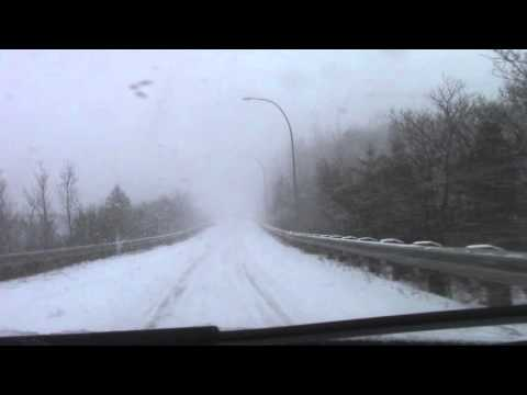 Driving in a Blizzard — Nova Scotia Highway 111 and 118
