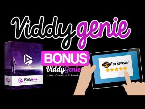 ViddyGenie Bonus Review. http://bit.ly/2UmCSh6