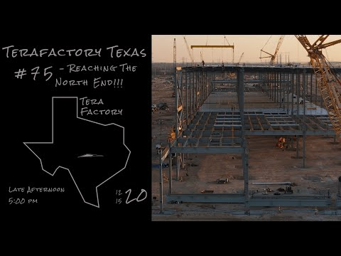 Tesla Terafactory Texas Update #75 in 4K: Reaching The North End - 12/15/20 (5:00pm)