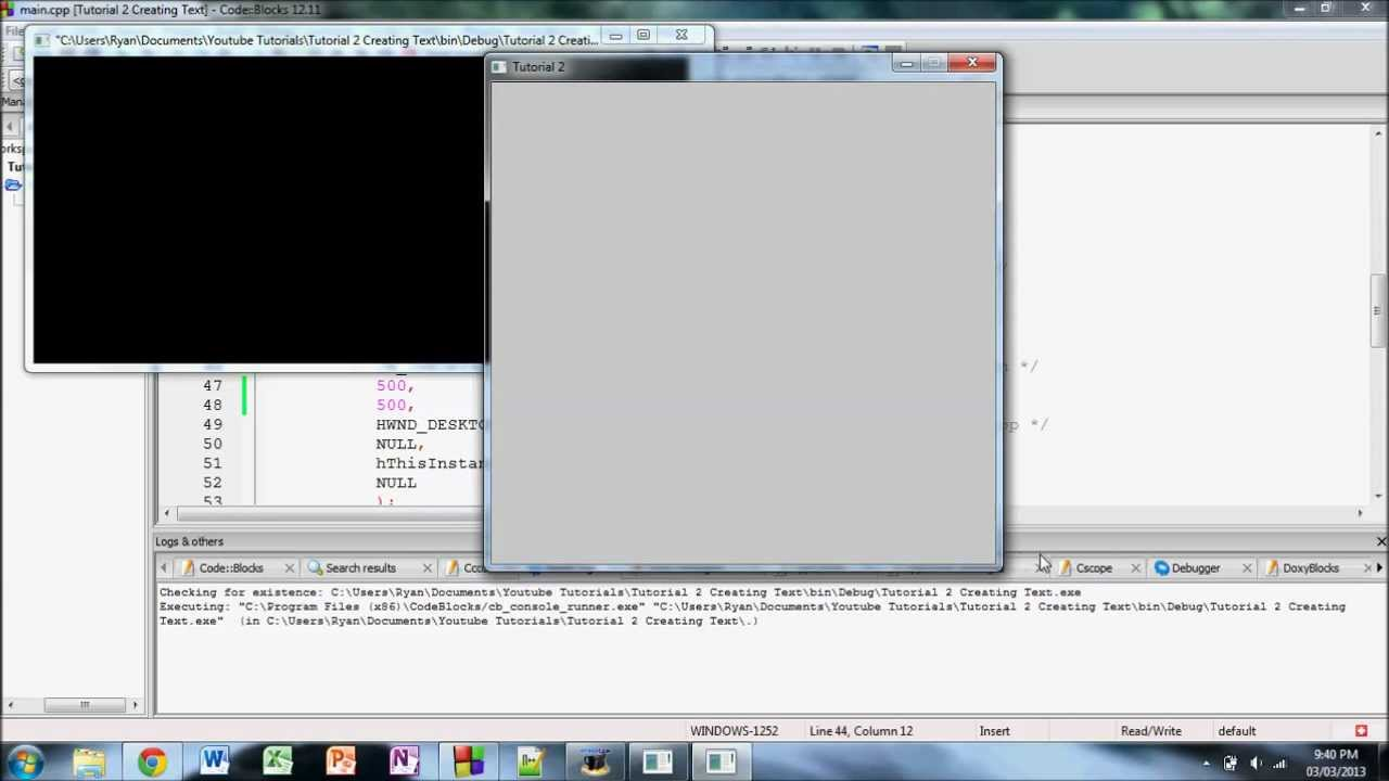Windows h C++ Tutorial 2: Adding Static Text to Your Window