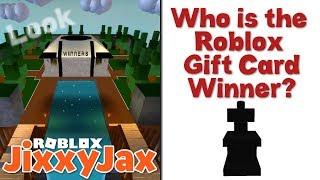 Roblox | Who Won the Roblox Gift Card? | JixxyJax
