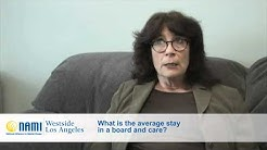 What is the average stay in a board and care?