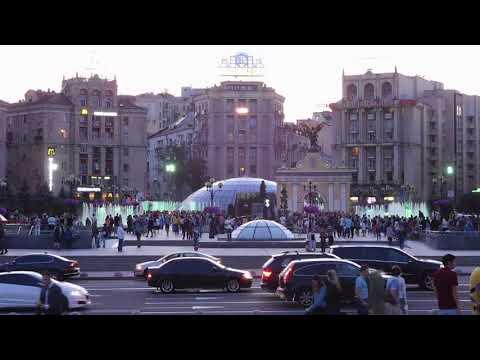 Kiev (Oekraïne) : Fonteinen op Maydan (Onafhankelijkheidsplein)