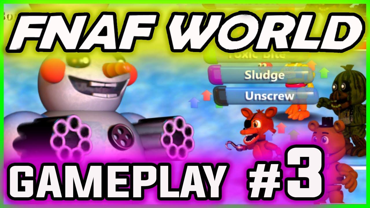 FNAF WORLD GAMEPLAY PART 3 | Golden Freddy's SECRETS ...  Fnaf 3 Gameplay