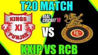 RCB VS KXIP T20 MATCH IN REAL CRICKET 19
