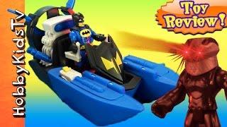 Imaginext Batboat Batman! Croc Black Manta Toy Review by HobbyDad HobbyKidsTV