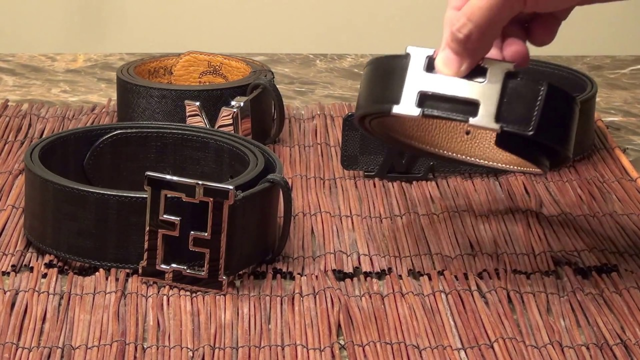 best designer belts hakv  4 Designer Belt Quality Comparison Hermes H Belt, Louis Vuitton, Fendi,  and MCM