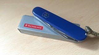 видео Нож Victorinox 2.4603.SE Evolution S111 (85мм, 12 функций, с фиксатором лезвия, красный)