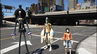 GTA 5 - Vua hải tặc hài hước - Cười cùng Luffy Franky Brook nào | GHTG
