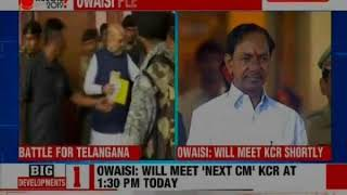 AIMIM chief Asaduddin Owaisi calls on KCR, Hyderabad