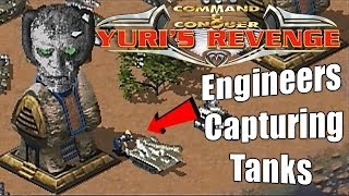 Weird Map Engineers capturing tanks | Red Alert 2 Yuri