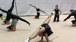 Интересные упражнения с резиной. Художественная гимнастика. УТС в Израиле с Екатериной Пирожковой #2