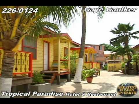 Tropical Paradise Hotel And Restaurant Caye Caulker Belize Youtube