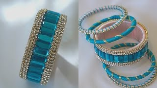 Turn Your Old Bangles Into latest Slik Thread Bangles/Slik Thread Bangles