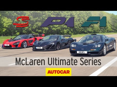 McLaren F1 vs. P1 vs. Senna: Ultimate Series review | Autocar Heroes