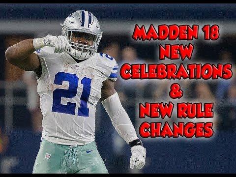 CELEBRATIONS BACK IN MADDEN 18??? NEW NFL RULE CHANGES!!!