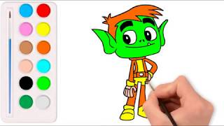 Drawing Beast Boy - How to draw