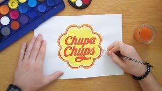 How to draw the Chupa Chups logo