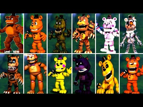 Five Nights at Freddys 6 FNAF 5 4 3 2 1 ALL FREDDY ANIMATRONICS *FNAF 2018*
