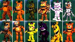 Five Nights at Freddy's 6 FNAF 5 4 3 2 1 ALL FREDDY ANIMATRONICS *FNAF 2018*
