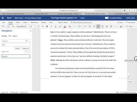 MLA Format   Works Cited & Source Words