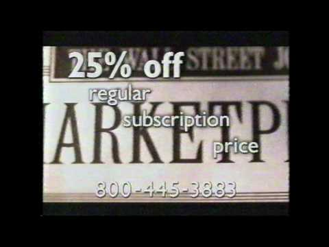 The Wall Street Journal Commercial from 1999