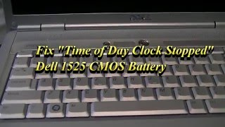 Download lagu fix time of day clock stopped dell inspiron 1525 cmos battery MP3