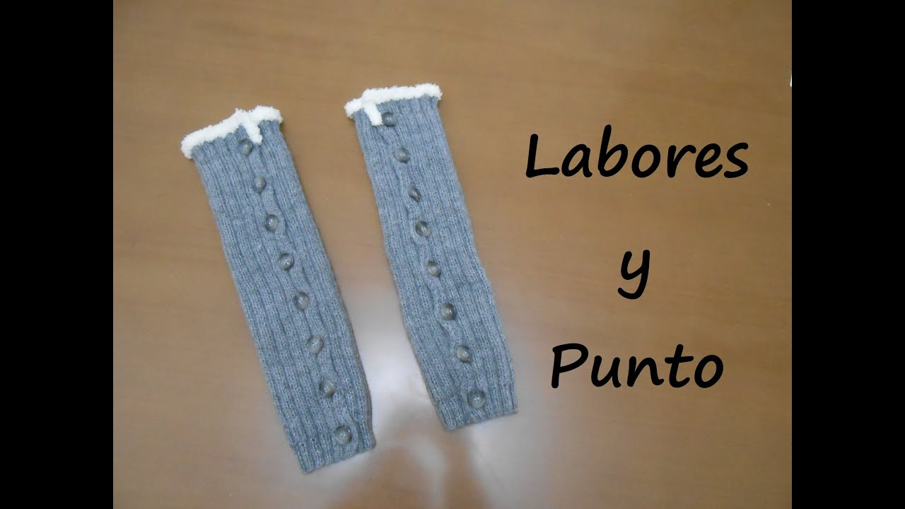 Aprende a tejer unos calentadores con botones o calcetines - Como hacer calcetines de punto ...