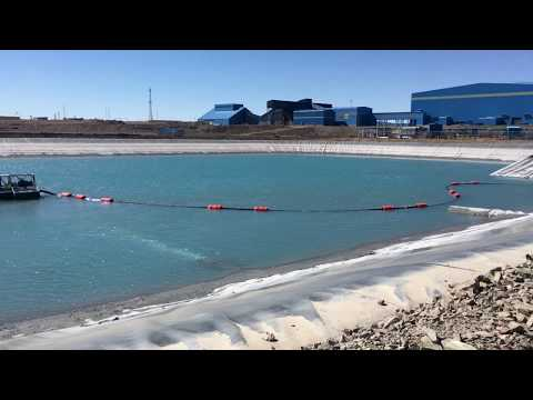 Catfish Mini-Dredgers (Shore-Controlled) in Action in Gold Mine Tailings Dam