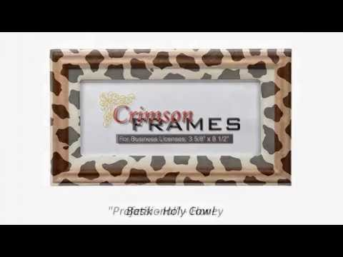 Cosmetologist Business License Frames - YouTube
