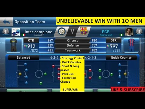 Pes Club Manager Android Gameplay Unbelievable Win Red Card Men Vs Otr