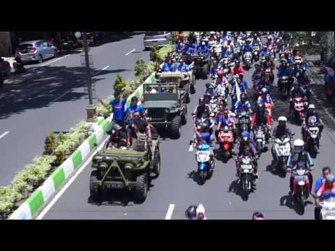 Konvoi Penyambutan Arema Juara Piala Presiden 2017