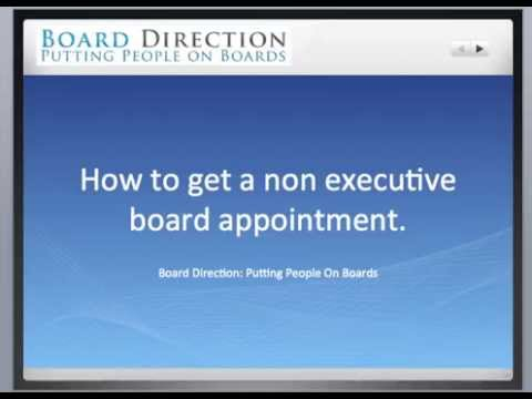 How to get a Non Executive Director Board Appointment