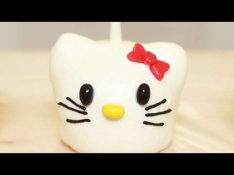 HELLO KITTY CARAMEL APPLES - NERDY NUMMIES