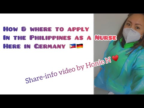 Where to Apply in the Philippines as a Nurse to Germany? Q&A by Honie N