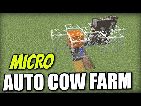 Minecraft PS4 - Automatic Cow Farm [ Micro ] Redstone Tutorial - Xbox / PS3 / Wii U