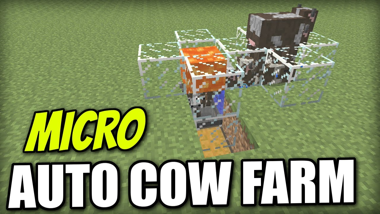 Minecraft Ps4 Automatic Cow Farm Micro Redstone Tutorial