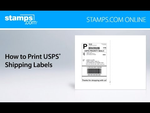 stamps com online how to print usps shipping labels youtube
