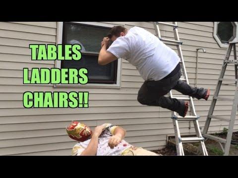 Grim's Toy Show ep 854: Ladder Match! WWE Figures on a Pole! Mattel Elite series figure FIGHT!